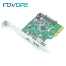 Expansion-Card E-Adapter ASM1142 Converter Pcie Controller Asmedia Type-C USB 3-3.0