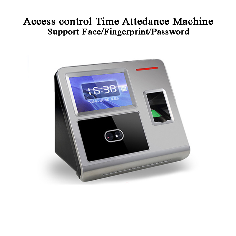 Access Control Face Time Attendance Machine DC12V/2A Fingerprint Code U-disk USB TCP/IP Wifi RFID Card  Office Excel Export
