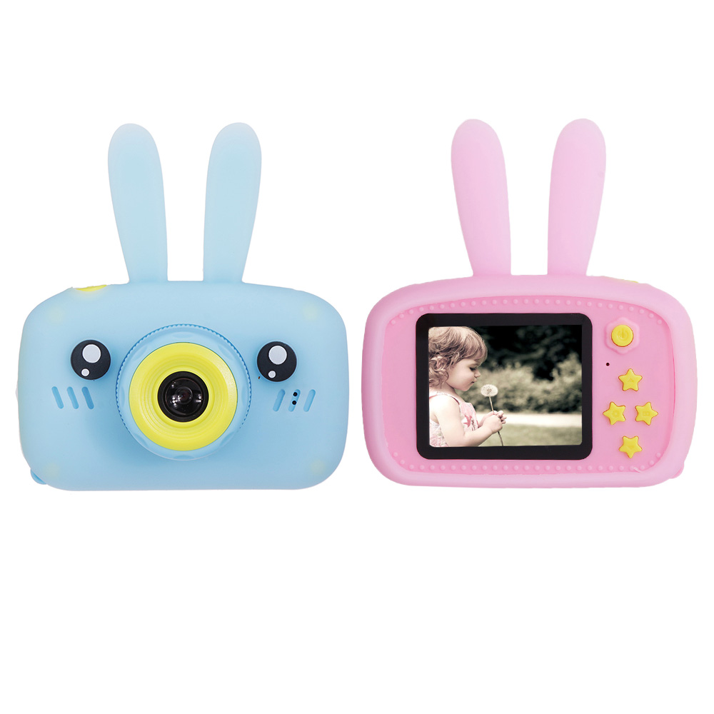 Kids Camera With Cartoon Case Dual Lens Digital Cameras USB Charging Multipurpose Children's Camera Christmas Gift For Kids Baby