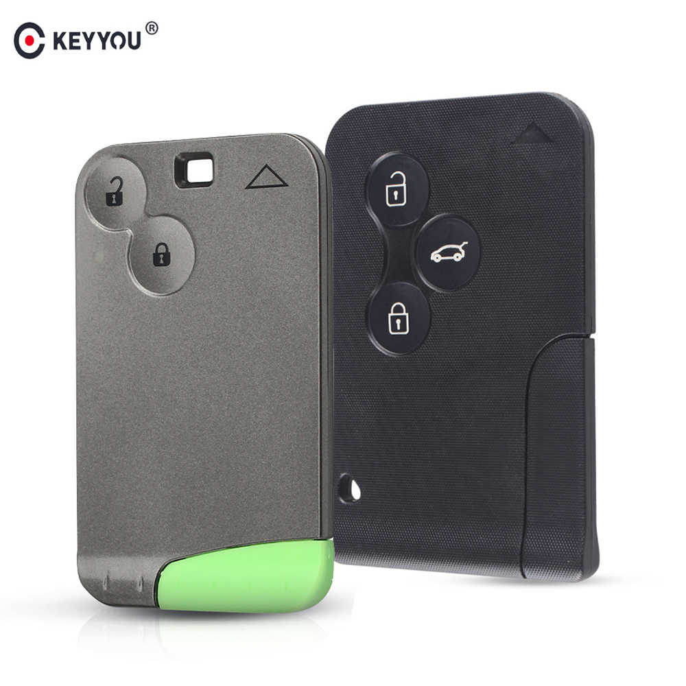 Keyyou Smart Auto Key Card Case Shell Fob & Insert Kleine Sleutel Blade Voor Renault Clio Logan Megane 2 3 scenic Laguna Espace Scenic