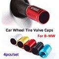 Автомобильный Стайлинг, 4 шт., 3D колпачки для клапанов автомобильных колес из металлического сплава, чехол для BMW M Performance 1 3 4 5 6 7 E Z X, автомобил...