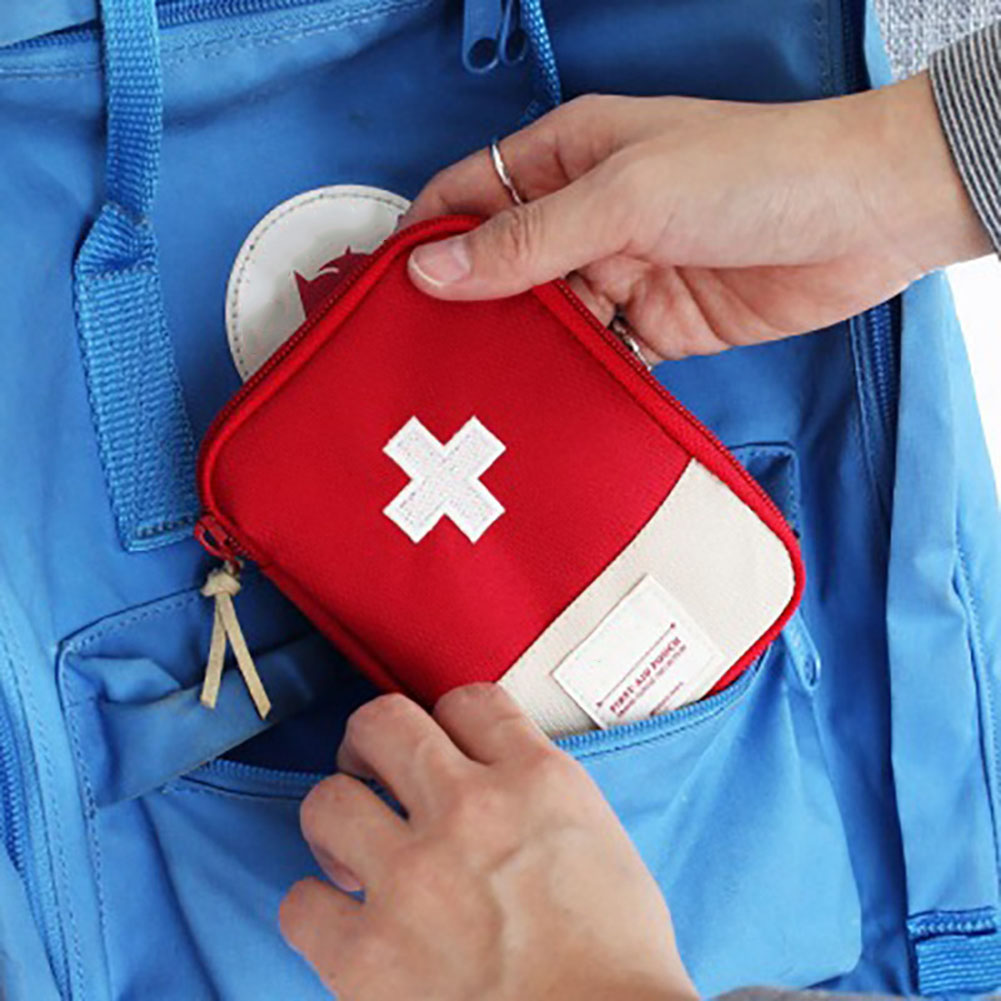 Empty First Aid Bag Emergency Pouch Travel Medicine Pill Storage Bags Outdoor Survival Organizer AC889