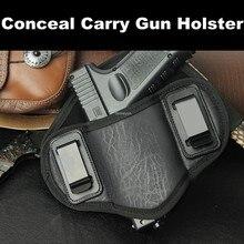 Pistolet myśliwski kabura PU skóra ukryj Carry IWB pistolet etui na pistolet Glock 17 19 23 32 Sig Sauer P250 P224 Beretta 92 Taurus