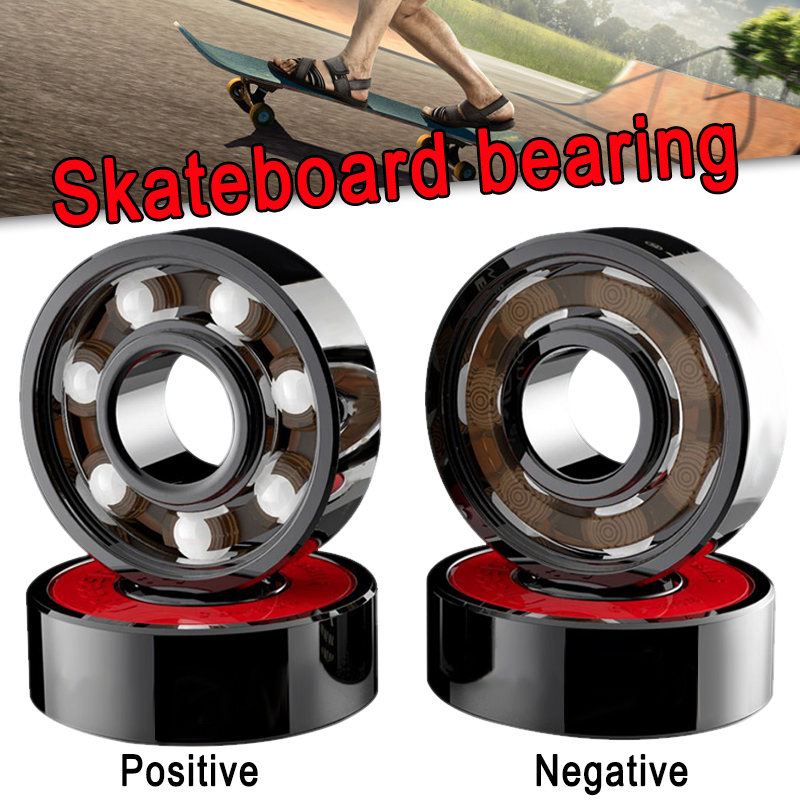Newly 8 Pcs Ceramic Bearings High Speed Wear Resistant For Skate Skateboard Wheel S66