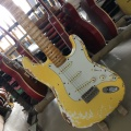 2019 store custom classic ST electric guitar, handmade ST guitar, relic version. Maple carved neck, free shipping