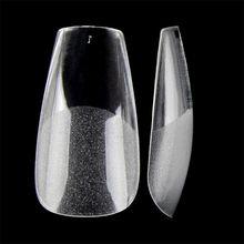 360 шт накладные ногти с полуматовым дном балерина гроб во французском