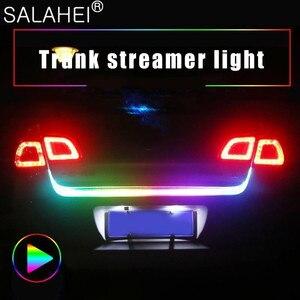 Image 1 - 12V 1.2M 1.5M Car Rear Trunk Tail Light Dynamic Streamer Reverse Warning LED Strip Auto Additional Break Trun Signal Lamp