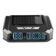 Sistema de supervisión de presión de neumáticos para camiones TPMS, pantalla automática, alarma, monitoreo, carga USB, alerta de temperatura con 6 sensores