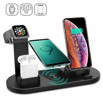 5 in 1 Wireless Charging Stand Qi Fast Charger Dock Station For Apple Watch 5 4 3 2 1 iPhone 11 X XS XR 8 for Airpods Pro 15w fast charge 2 in 1 wireless charger for iphone 11 pro xs max xr x qi fast wireless charging pad for airpods pro 1 2 charger