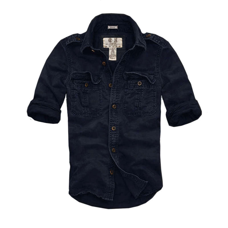 2019 Men long-sleeved Slim tooling cargo overalls men shirt autumn winter uniform camouflage afsss hollistic men jacket