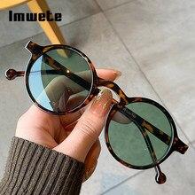 Imwete redondo vintage óculos de sol para homens moda decorativa tons óculos de sol unisex retro uv400