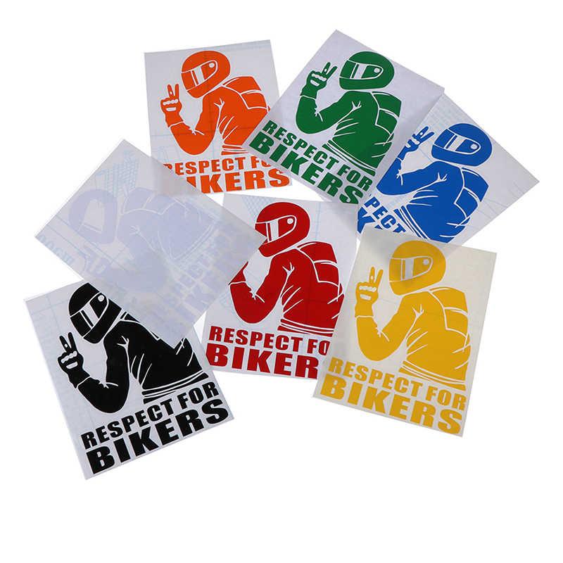 Hot koop Auto Stickers Motorfiets Auto Styling Decoratie Respect voor Fietsers Sticker op Auto Vinyl Grappige 3D Stickers en Stickers