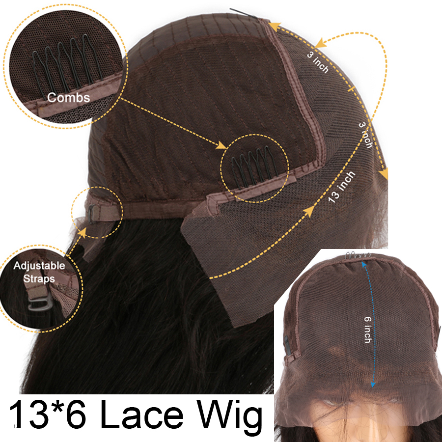 Image 4 - SHD Ombre Color Lace Front Wigs for Women Brazilian Remy Hair Middle Part Wigs 100% Human Hair Front Lace Wig with Baby Hair-in Human Hair Lace Wigs from Hair Extensions & Wigs