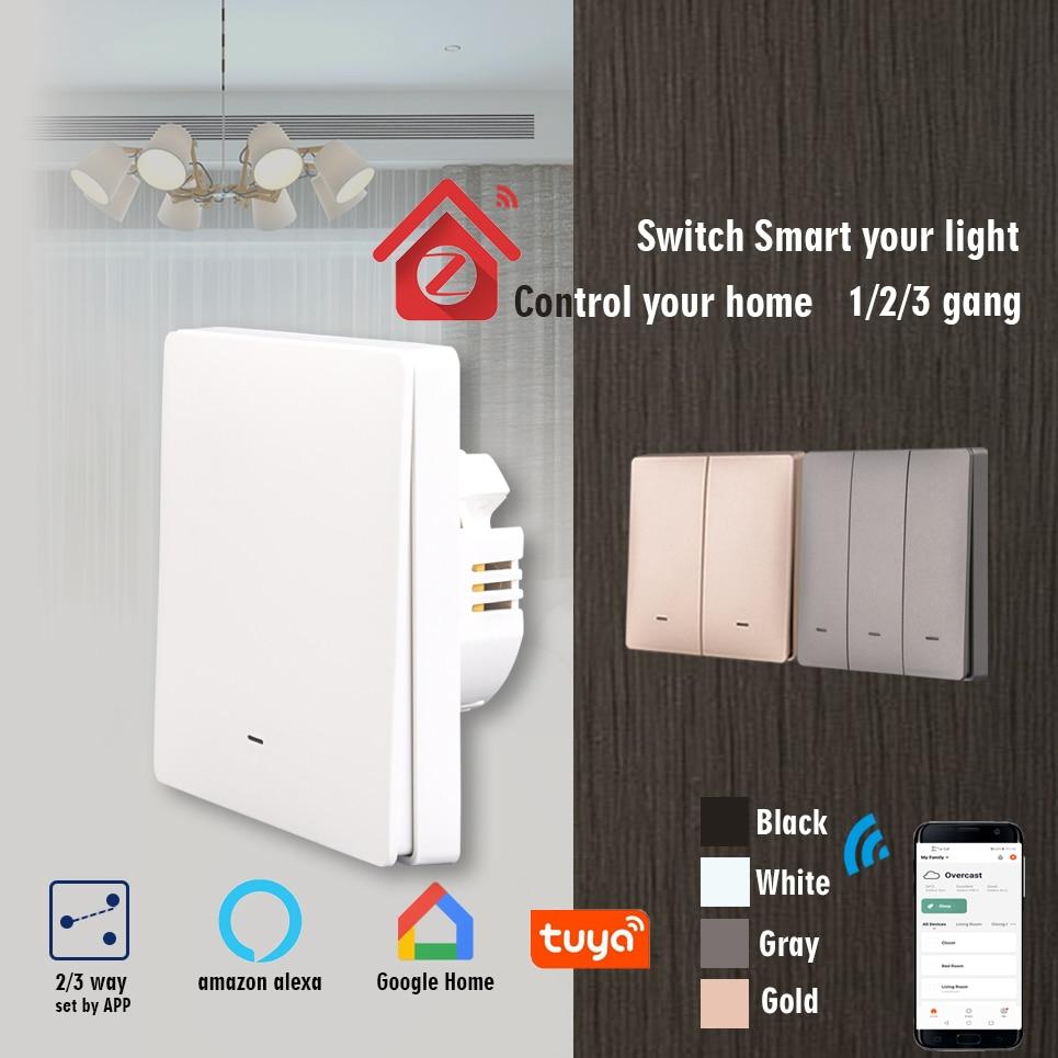 ZigBee Light Switch,Smart Home Wall Push Button Switch,1/2/3 Way,APP Control,EU UK standard,Works With Google Home Aleax