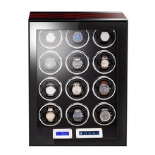 Luxury Automatic wood watch box watch winder with Mabuchi motor LCD touch screen and Remote control mechanical Watch winder box