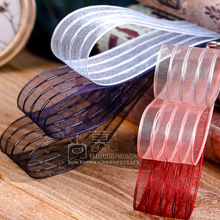 100yards 10 16 25 40mm silver purl stripes organza sheer ribbon for hair bow diy accessories craft supplies bouquet packing bow 100yards 10 16 25 40mm stitched stripes organza sheer ribbon for bouquet flower packing bow wedding party craft supplies