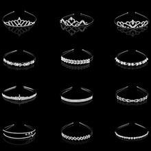 Crystal Crown Headband Hair-Accessories Wedding-Flower Girl Fashion Children Popular