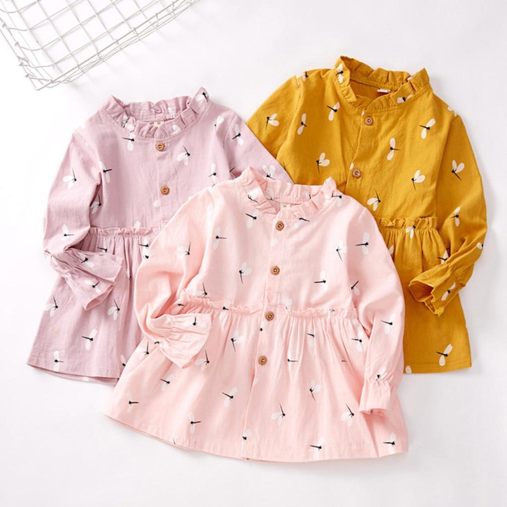 Платье для маленьких девочек; Платья принцессы с рюшами и принтом с героями мультфильмов; Осенняя детская повседневная одежда; vestidos infantil Платья      АлиЭкспресс