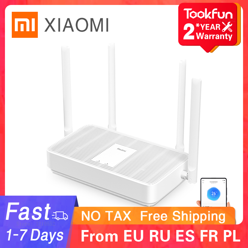 2021 New Xiaomi Redmi AX5 Wireless Router 5G WiFi 6 Dual Frequency Mesh Network Repeater 4 High Gain Antennas Signal Extender 1