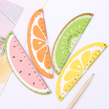 15cm New Fruit Straight Ruler Wooden Kawaii Tools Stationery Creative Drawing Gift for Kids Office School Supplies - discount item  49% OFF Drafting Supplies