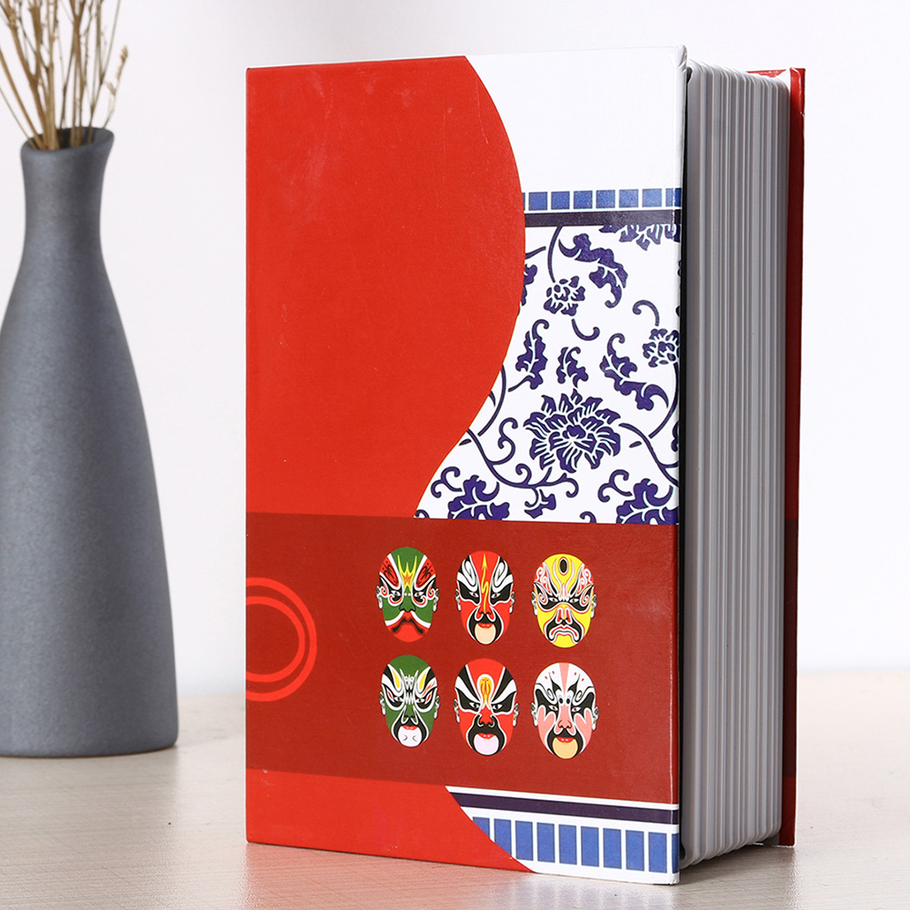 Jewelry Storage Password Key Security Box Safe Lock Chinese Style Dictionary Book Study Room Practical Birthday Gift Cash Money