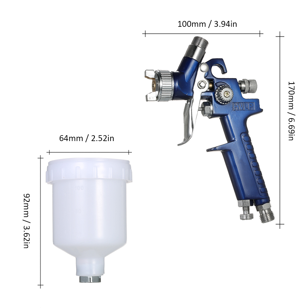 H515bdf9dccf7431184ef35135e5a980ak - HVLP spray gun professional touch-up mini paint sprayer for toy leather furniture and car reparing painting