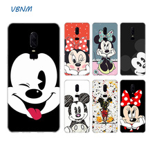 Mickey Minnie Cartoon Heart Soft Rubber TPU Silicone Back Case For OnePlus One Plus 1+ 7 Pro 6 6T 5 5T 3 3T Coque Shell Cover