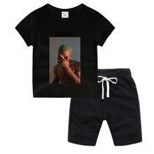 Little Boy Girl Anime Frank Ocean Blond Blonde Cotton T-Shirt Summer Kids Christmas Shirt Children Cartoon Toddler Tshirt