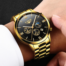 LIGE Mens Watches Top Brand Quartz movem