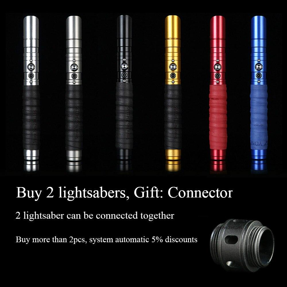 RGB estrella sable láser Jedi Sith Luke sable de luz de la fuerza FX pesado duelo palo FOC cerrar mango de Metal espada cambio color regalo - 5