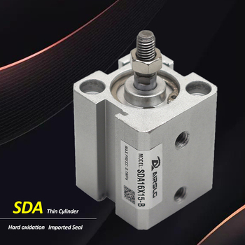 SDA Bore 25MM Airtac Type Double Acting  Female Male Thread Compact Pneumatic Air Cylinder SDA25 Stroke 5-100mm sc80 100 80mm bore 100mm stroke compact double acting pneumatic air cylinder