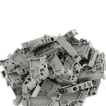 Caliente XD-50Pcs 35mm Bloque De Terminales Para Carril DIN Tapón De Fin Clips De Montaje