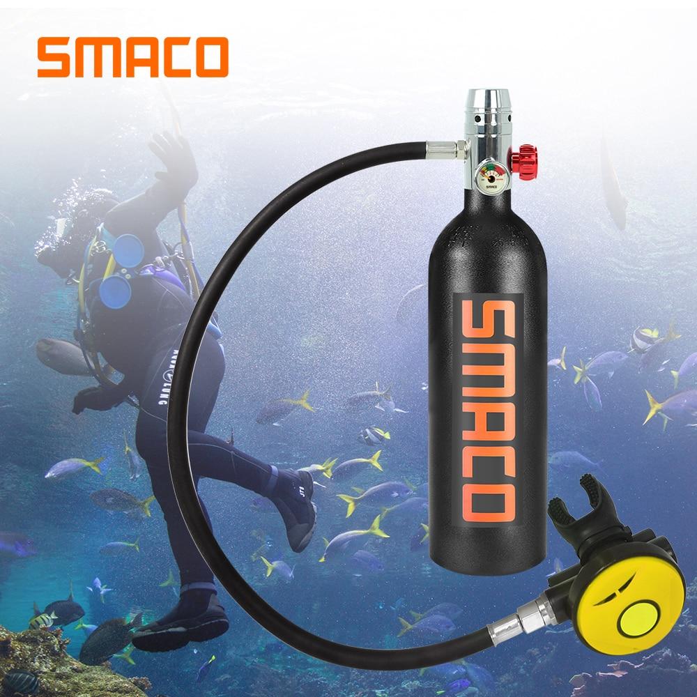 SMACO 1L Diving Equipment Mini Scuba snorkel diving Cylinder Scuba Oxygen Tank S400 buceo Scuba Diving Oxygen Air Tank in Snorkels from Sports Entertainment