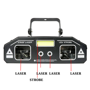 Image 2 - Dj 무대 레이저 빛 2019 최신 2in1 스트로브 레이저 조명 디스코 홈 파티 휴일 스트로브 프로젝터