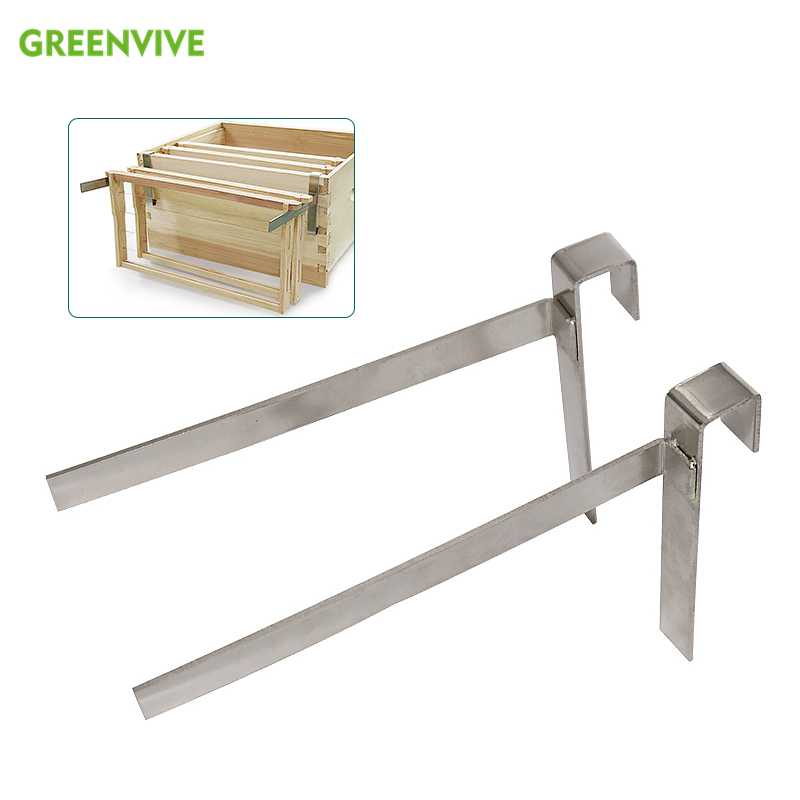 2pcs Metal Bee Hive Stand Adjustable Leg Hive Frame Holder Hive Supporter Tool
