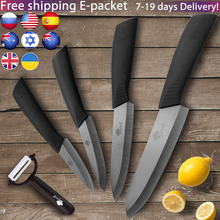 Ceramic Knives Kitchen Knife Chef Set 3 4 5 6 inch Peeler Zirconia Black Blade fruit Vege Cooking Utility Paring Slicing Tool