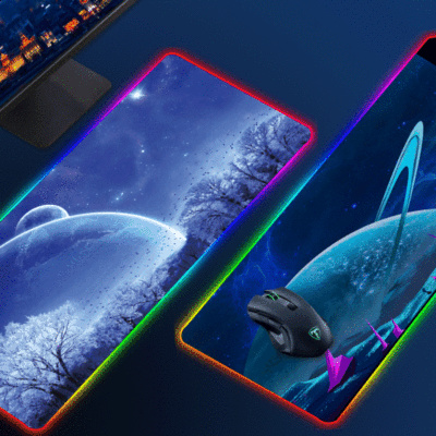 Permalink to ForLarge Size Colorful Luminous RGB Gaming Mouse Pad Anti-Slip Rubber Base Computer Keyboard Mouse Pad Anti-slip For Computer PC