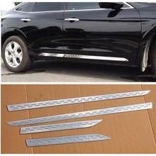 Стальной корпус боковой формы хромированная отделка порога Крышка для Honda Crosstour 2010-16