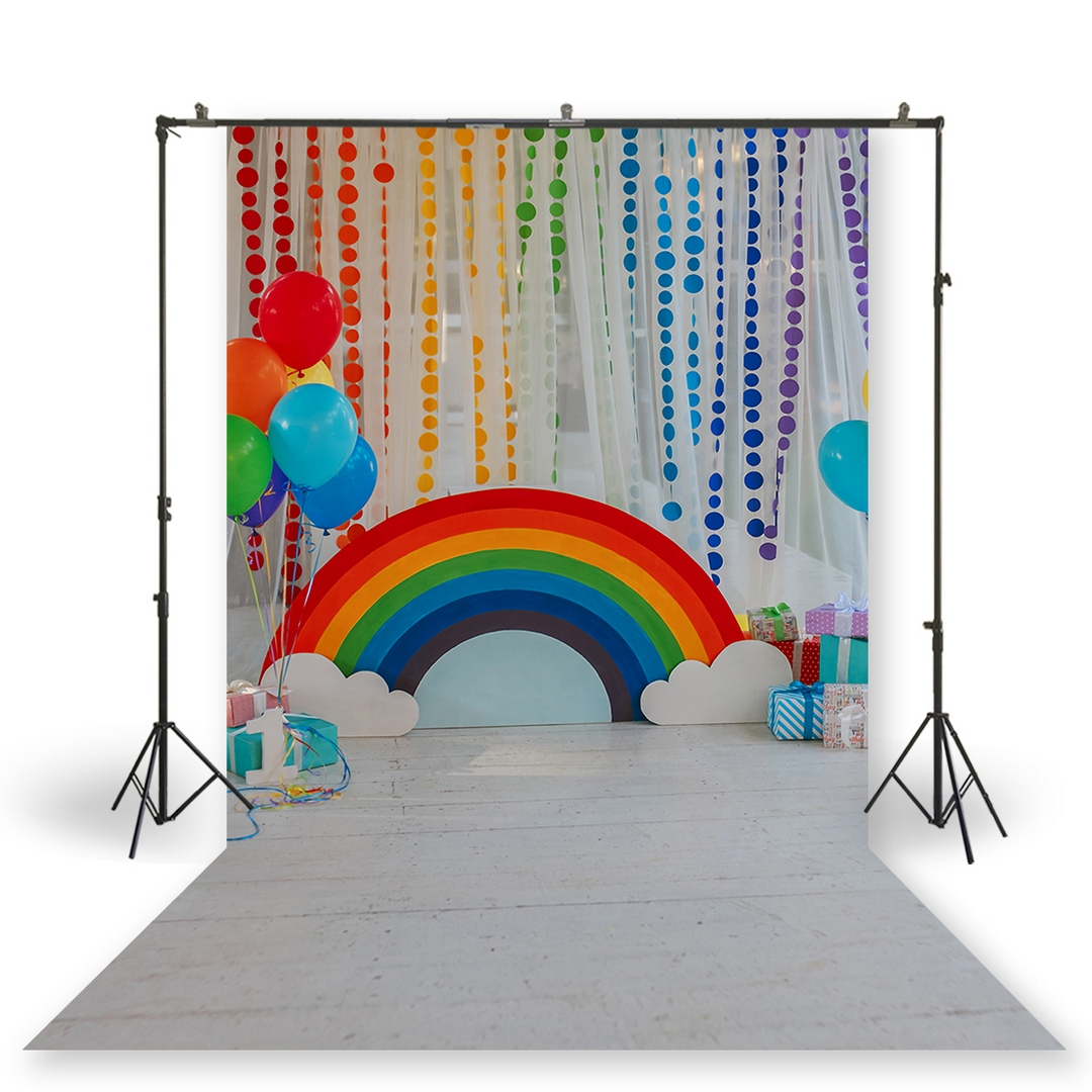 HUAYI Photography Backdrop Birthday-Decor Studio Rainbow Newborns Baby Shower XT-6747 title=