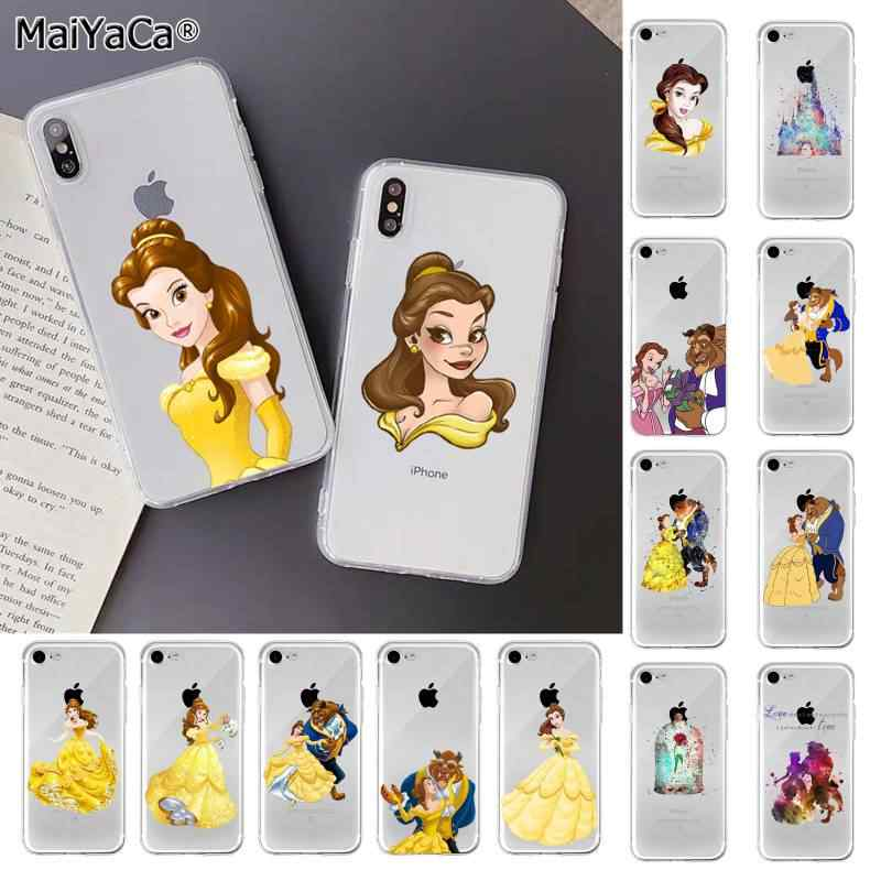 MaiYaCa Beauty Beast Rose Prinses TPU Soft fundas Telefoon Case Cover voor iPhone 11 pro XS MAX 8 7 6 6S Plus X 5 5S SE XR cover