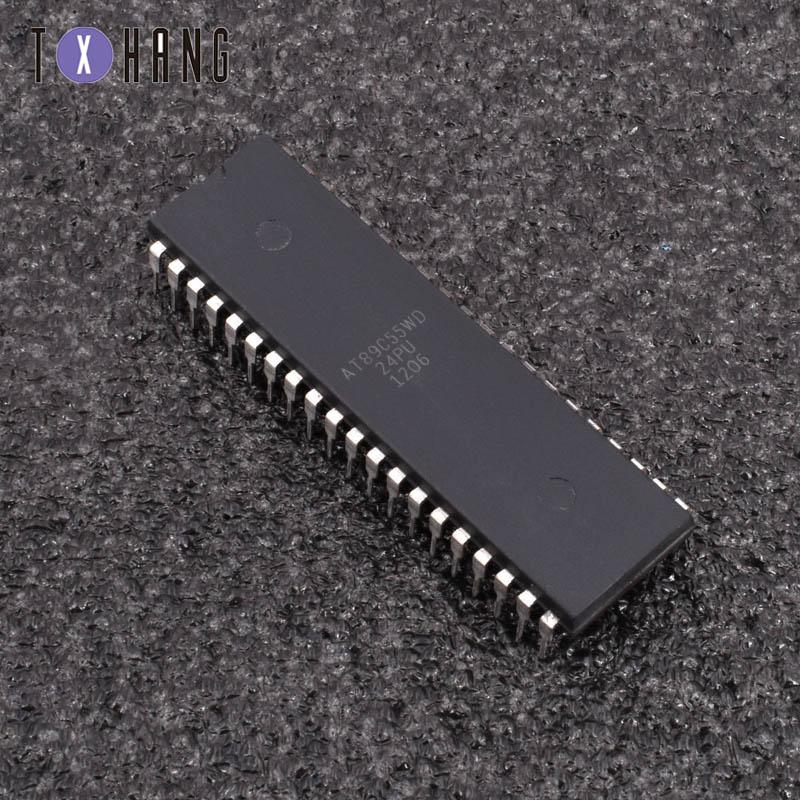 1/5 шт AT89C55WD-24PU 40 контактов 8-битный микроконтроллер с 20K байтами Flash diy electronics