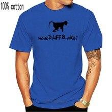 Nunca blefe um macaco-poker camiseta masculina nova chegada camisetas masculinas casual menino camisetas tops descontos 100% algodão