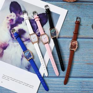 Image 5 - Изысканные маленькие простые женские наручные часы с кожаным ремешком в стиле ретро
