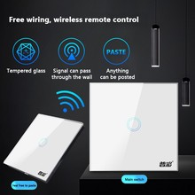 ZUCZUG Wireless Touch Smart Switch 250V 10A Remotely Control Home  Wall Switch 86 Type 1 2 3 Gang LED Light Switch Touch Switch