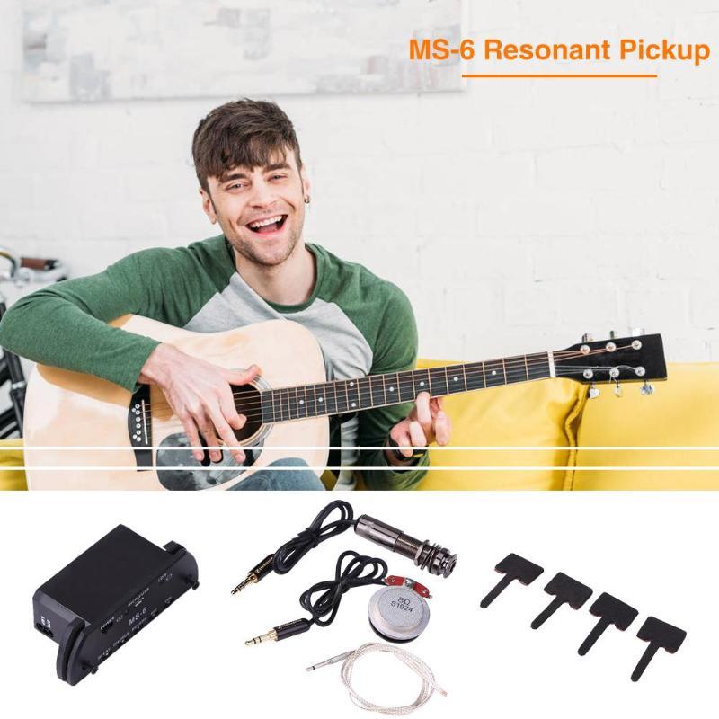 Vendita calda Multi purpose Chitarra di Risonanza di Pick Up di Usura resistente Facile Da trasportare Amplificatore con il Volume Mic di Ritardo riverbero - 6