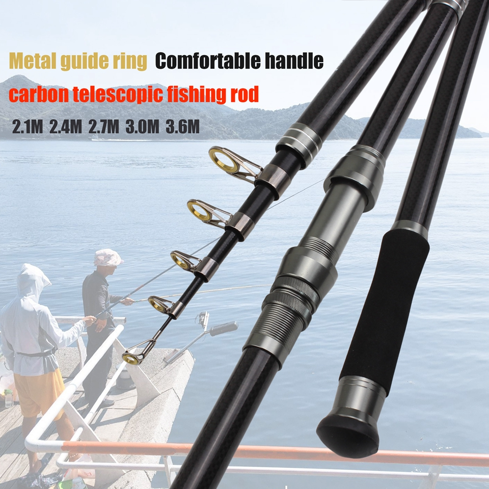 2.1m 2.4m 2.7m 3.0m 3.6m Super strong telescopic <font><b>fishing</b></font> <font><b>rod</b></font> High Carbon carp Spinning <font><b>Rod</b></font> Lure Weight 40-<font><b>100g</b></font> sea pole image