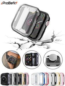 Probefit ceas-capac caz ecran-protector soft-Clear Slim 42mm 38mm 44mm 360 pentru mere