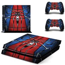Spiderman Full Cover Faceplates PS4 Skin Sticker Decal For PlayStation 4 Console & Controllers Vinyl Spider-man
