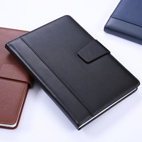 Business Affairs Notebook You Bring Buckle Leather Meeting Record Book Paperback Notepad