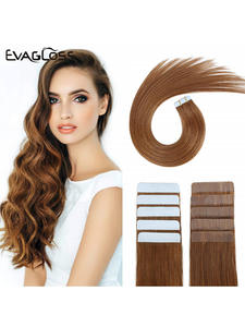 Skin-Weft-Machine Hair-Extensions Tape-In Adhesive Remy-20pcs Double-Sided